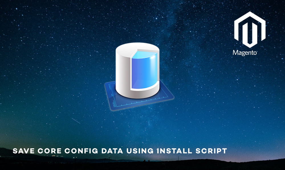 Save core config data in Magento using install script
