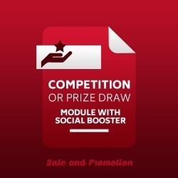 Competition or Prize Draw Module with Social Booster