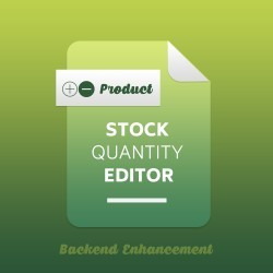 Product Stock Quantity Editor