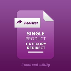 Single Product Category Redirect