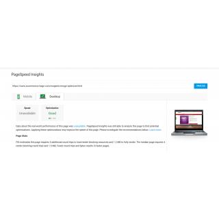 Googe Page Speed Test Result for Desktop