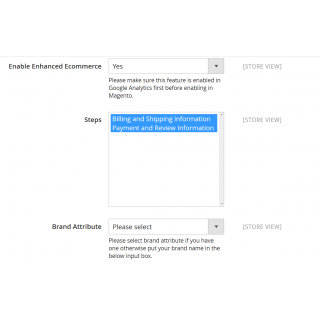 Google Enhanced Ecommerce Configuration Settings 2
