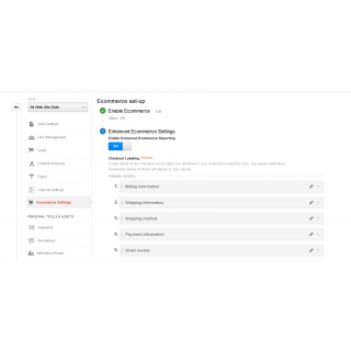 Google Enhanced E-commerce Settings