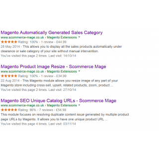 Preview of Rich snippet data on Google Results pages