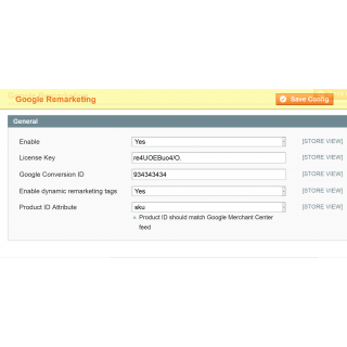 Magento Google Adword Dynamic Remarketing Tag Admin Configuration